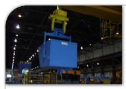 heavy duty crane-dumping bucket
